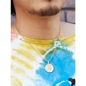 【チャイハネ】ハイダアートラウンドMEN'Sネックレス ゴールド