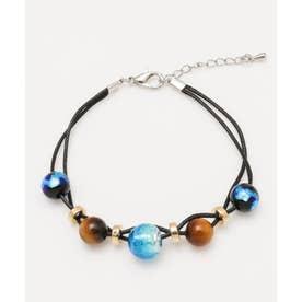 【チャイハネ】蓄光ほたる玉メンズ2連ブレスレット ブルー