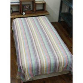 【チャイハネ】虹色ベッドカバー シングルサイズ ホワイト
