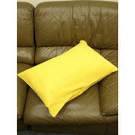 【チャイハネ】インド綿シンプル枕カバー/ピロケース イエロー