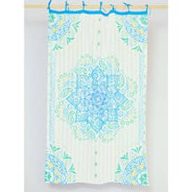 【チャイハネ】魅惑のカーテン178cm ブルー