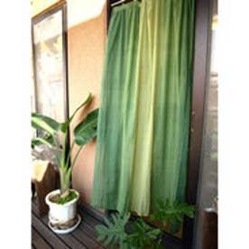 【チャイハネ】グラーデーションカーテン178cm グリーン