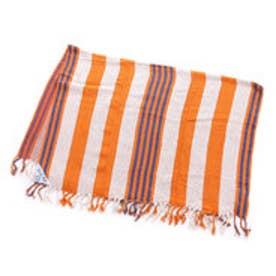 【チャイハネ】マルチボーダーコットンマット BEACH RUG オレンジ