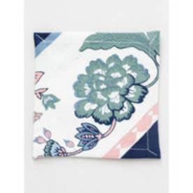◆【欧州航路】プロヴァンス植物柄コースター ネイビー