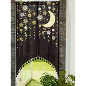 【チャイハネ】夜空に輝く月星アーチのれん ブラック