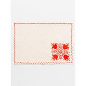 【欧州航路】ルーマニア刺繍風プレイスマット レッド