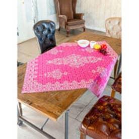 【チャイハネ】イスラミックタイル柄テーブルクロス ピンク