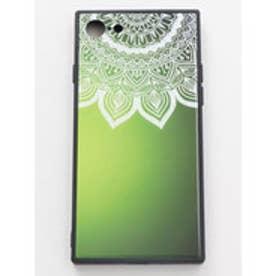 【チャイハネ】iPhone8/7兼用ガラス製スマホケース 曼荼羅 グリーン