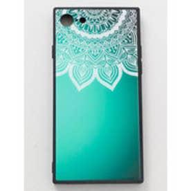【チャイハネ】iPhone8/7兼用ガラス製スマホケース 曼荼羅 ターコイズブルー