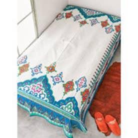 【チャイハネ】アラベスク模様ベッドカバー マルチクロス ブルー