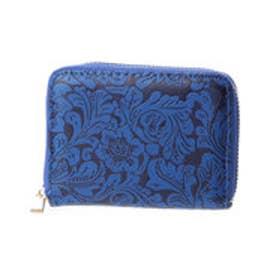 【チャイハネ】メキシカンフラワー柄ミニ財布 ブルー