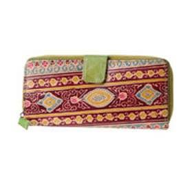◆【チャイハネ】インド山羊革コルカタ長財布 グリーン