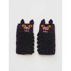 【チャイハネ】ニャングローブ もこもこ猫手袋 ブラック