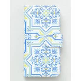 【欧州航路】iPhone8/7兼用 手帳型ケース ポルトガル ブルー