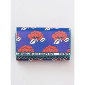 【チャイハネ】アフリカ・カンガ柄 カード&コインケース ネイビー