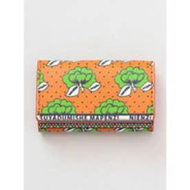 【チャイハネ】アフリカ・カンガ柄 カード&コインケース オレンジ