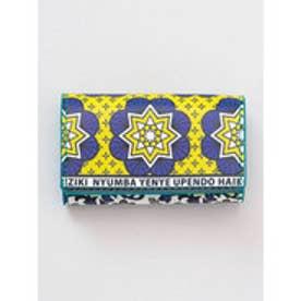 【チャイハネ】アフリカ・カンガ柄 カード&コインケース イエロー