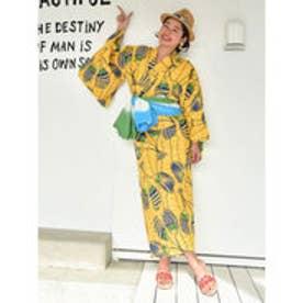 【チャイハネ】アフリカン柄セパレート浴衣 イエロー