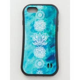 【チャイハネ】iPhone8/7兼用ガラス製スマホケース ロータス アクア