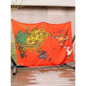 【チャイハネ】アトラスループベッドカバー シングルサイズ オレンジ