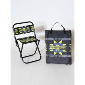 【チャイハネ】セドナ・ネイティブ柄チェア 折りたたみ椅子 ケース付き ブラック