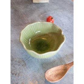 【チャイハネ】蓮の葉ボウル 直径約12cm グリーン