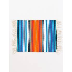 【チャイハネ】サラッペボーダー手織りプレイスマット ブルー