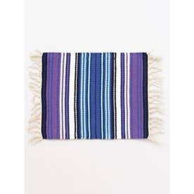 【チャイハネ】サラッペボーダー手織りプレイスマット パープル