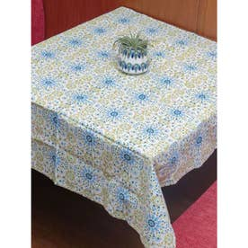 【欧州航路】ポルトガルタイル柄テーブルクロス ベージュ