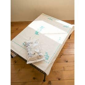 【欧州航路】ハンガリー刺繍風テーブルクロス ターコイズブルー