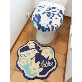 【欧州航路】TOILETRY COVER&MAT トイレセット バード&ボタニカル ブルー