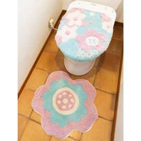 【欧州航路】TOILETRY COVER&MAT トイレセット バード&ボタニカル ピンク