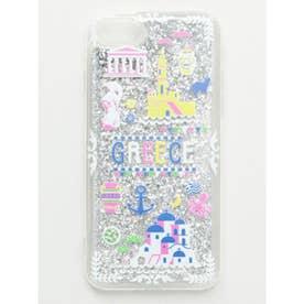 【欧州航路】iPhone8/7兼用 Soft Glitter Case 地中海の街並み シルバー系その他