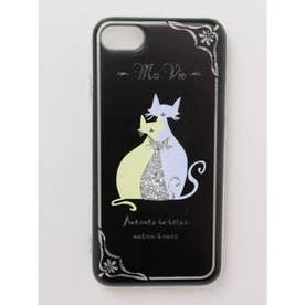 【欧州航路】iPhone8/7 兼用グリッターケース ヨーロピアンキャット Soft Glitter Case シルバー系その他