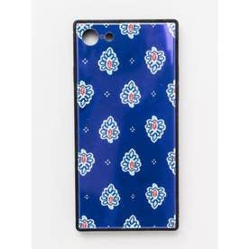 【欧州航路】iPhone8/7兼用スクエア型ガラス製スマホケース ダジュールオーロラ ネイビー
