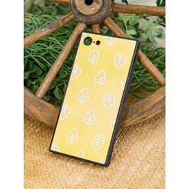 【欧州航路】iPhone8/7兼用スクエア型ガラス製スマホケース ダジュールオーロラ イエロー