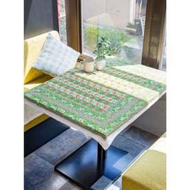 【チャイハネ】インド伝統柄プリントテーブルクロス グリーン