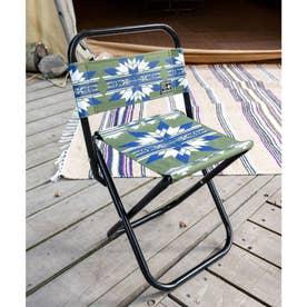【チャイハネ】セドナ・ネイティブ柄チェア 折りたたみ椅子 ケース付き オリーブ