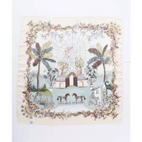 【欧州航路】ガーデンルームスカーフ ホワイト