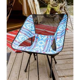 【チャイハネ】グラウンドチェア 折りたたみ椅子 ケース付き ブルー