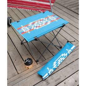 【チャイハネ】グラウンドテーブル 折りたたみ可能 ケース付き ブルー