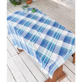 【チャイハネ】イタワ織りチェック柄マルチクロス Mサイズ ブルー