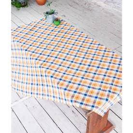 【チャイハネ】イタワ織りチェック柄マルチクロス Mサイズ オレンジ