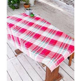 【チャイハネ】イタワ織りチェック柄マルチクロス Mサイズ ピンク