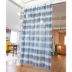 【チャイハネ】イタワ織りチェック柄マルチクロス Lサイズ ブルー