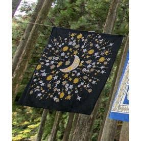 【チャイハネ】大風呂敷 夜空に輝く月星 ブラック