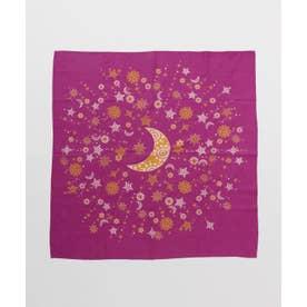 【チャイハネ】小風呂敷 夜空に輝く月星 ピンク
