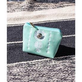 【チャイハネ】セレーネ刺繍ミニポーチ ターコイズブルー