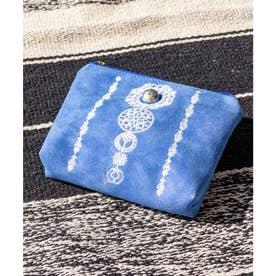 【チャイハネ】セレーネ刺繍ポーチ ブルー