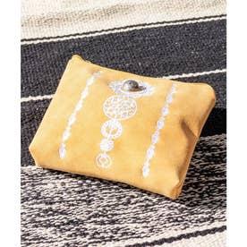 【チャイハネ】セレーネ刺繍ポーチ オレンジ